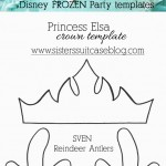 Frozen+party+crown+and+antler+templates